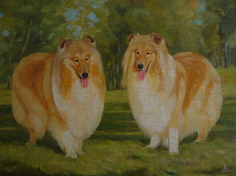Needlepoint canvas 'Collies'