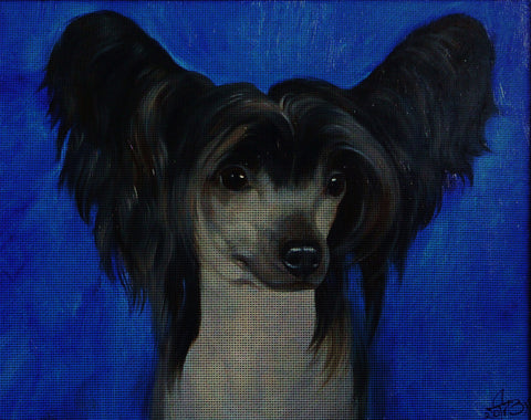 Needlepoint canvas 'Chinese Crested Dog'
