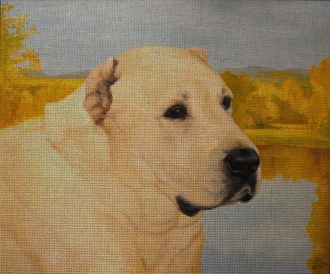 Needlepoint canvas 'Alabai Dog'
