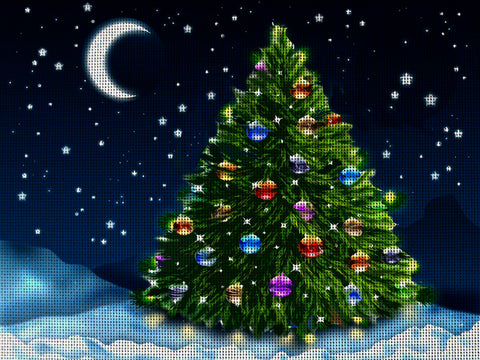 Needlepoint canvas 'Christmas Tree'