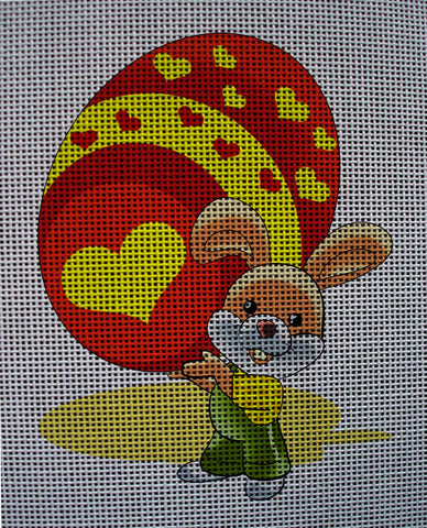 Needlepoint canvas 'Easter Bunny & Gift Egg'