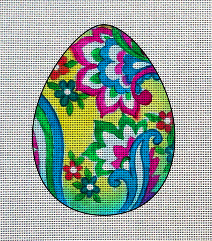 Needlepoint canvas 'Easter Colorfull Eggs'