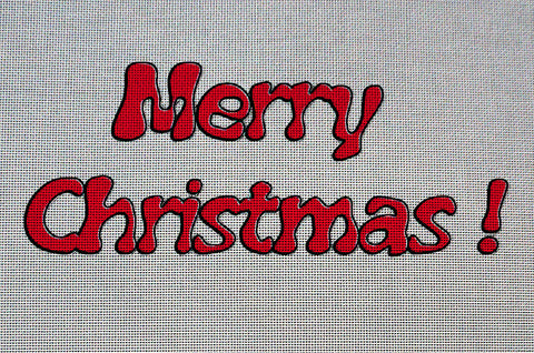Needlepoint Canvas - Christmas easter holidays wishes