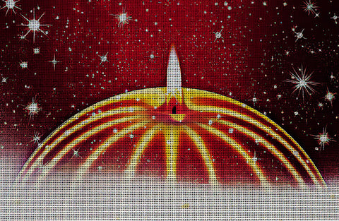 Needlepoint Canvas - Advent candle star christmas