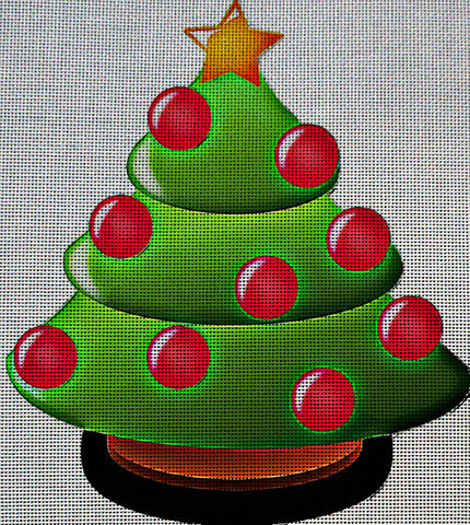 Needlepoint Canvas - Christmas tree christmas fir tree
