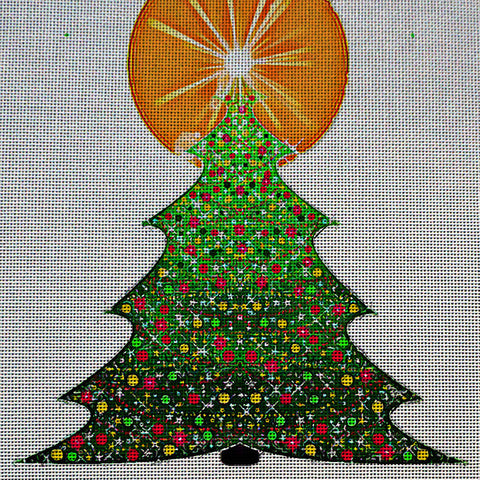 Needlepoint Canvas - Christmas holidays christmas tree