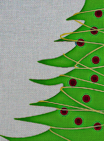 Needlepoint Canvas - Christmas tree christmas background