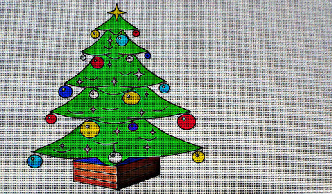 Needlepoint Canvas - Christmas christmas tree holly tree
