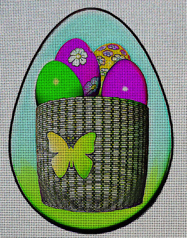 Needlepoint Canvas - Easter egg eggs easter eggs spring