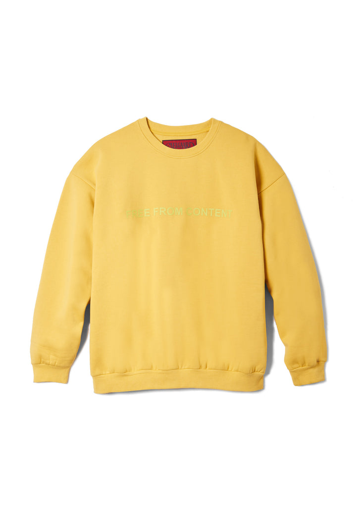 Free From Content Crewneck