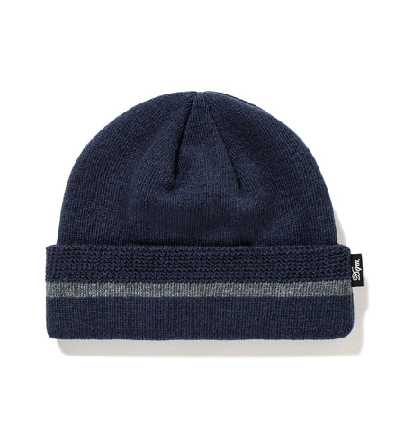 Knitted Stripe Watch Cap Beanie