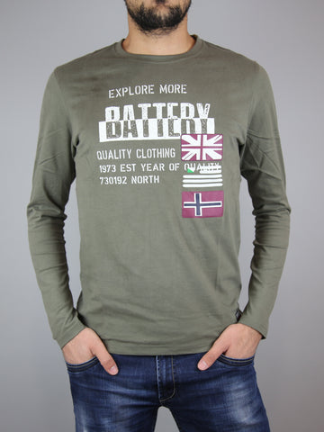 Battery. PEACH FINISH T-SHIRT ΜΕ ΣΤΑΜΠΑ ... dd44cf8aa96