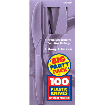 Lavender Big Party Pack Plastic Knives 100ct.
