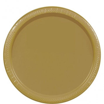 "Gold 10 1/2"" Paper Plates 20ct."