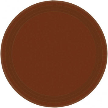 "Chocolate Brown 10 1/2"" Paper Plates 20ct."