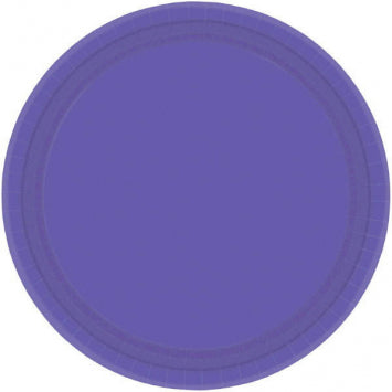 "New Purple 10 1/2"" Paper Plates 20ct."