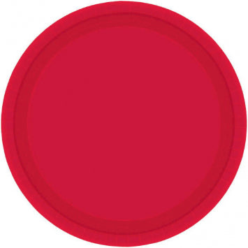 "Apple Red 10 1/2"" Paper Plates 20ct."