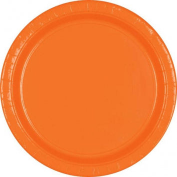 "Orange Peel 10 1/2"" Paper Plates 20ct."