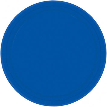 "Bright Royal Blue 10 1/2"" Paper Plates 20ct."