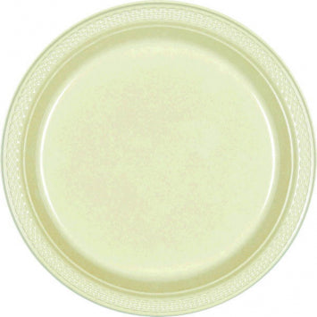 "Leaf Green 10 1/4"" Plastic Plates 20ct."