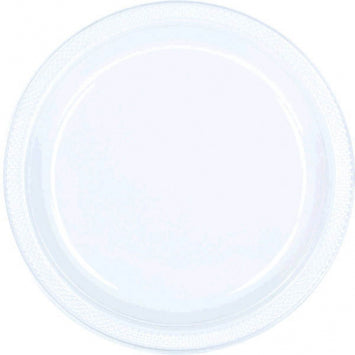 "Clear 10 1/4"" Plastic Plates 20ct."