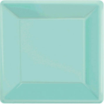 "Robin's Egg Blue 10"" Square Paper Plates 20ct."