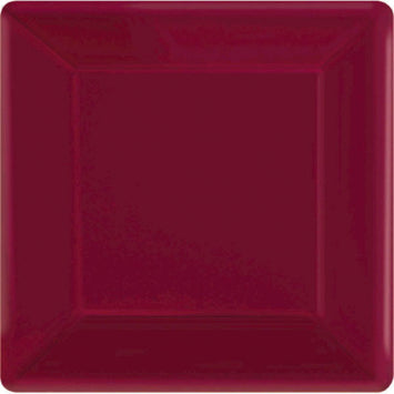 "Berry 10"" Square Paper Plates 20ct."