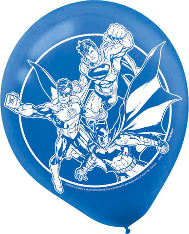 Justice League Latex Balloons 6ct.