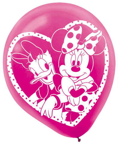 Disney Minnie Mouse Printed Latex Balloons 6ct.