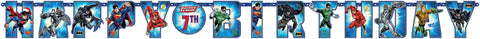 Justice League Jumbo Add-An-Age Letter Banner