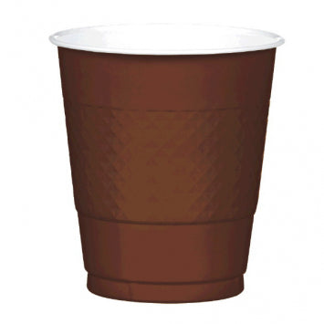 Chocolate Brown 12 oz. Plastic Cups 20ct.