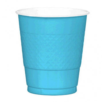 Caribbean Blue Plastic 12oz. Cups 20ct.