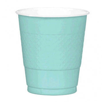 Robin's Egg Blue Plastic 12oz. Cups 20ct.