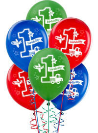 All Aboard Boy Printed Latex Balloons 15ct.