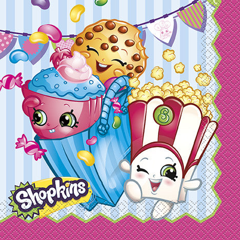 Shopkins 16 Luncheon Napkins