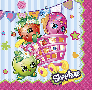 Shopkins 16 Beverage Napkins