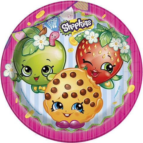 Shopkins 8 Lunch Plates