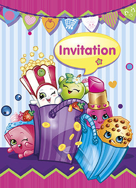 Shopkins 8 Invitations
