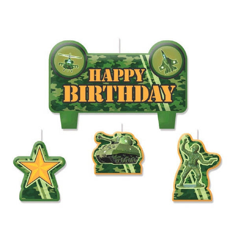 Camouflage Birthday Candle Set