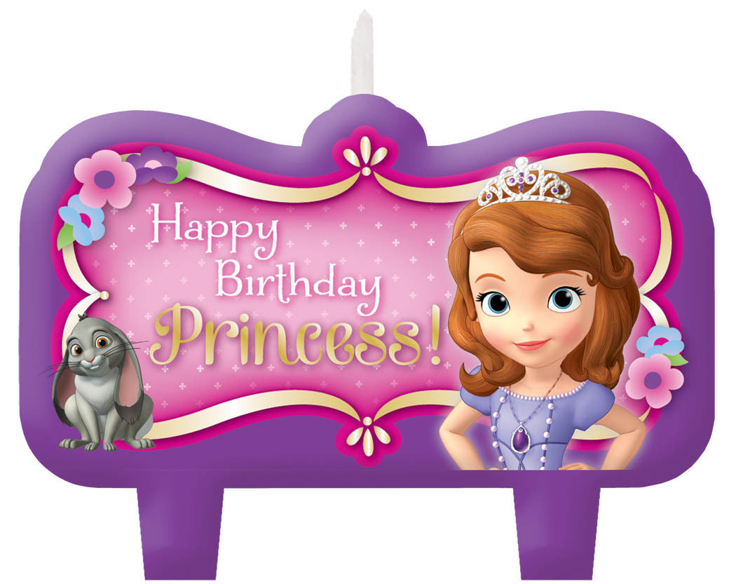 Disney Sofia The First Birthday Candle Set 4ct. – goodieGumDrops Store