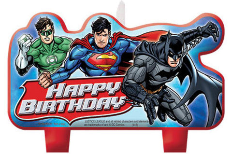 Justice League Birthday Candle Set 4ct.