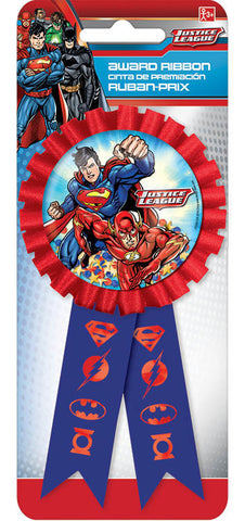 Justice League Confetti Pouch Award Ribbon