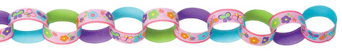 Sweet Birthday Girl Printed Paper Chain Link Garland