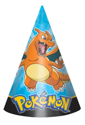 Pikachu and Friends Paper Cone Hats 8ct.