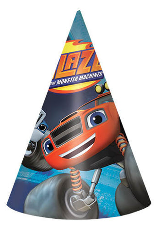 Blaze and the Monster Machines Paper Cone Hats