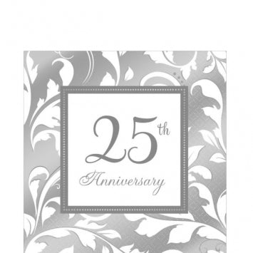 25th Anniversary Lunch Napkins 16ct.