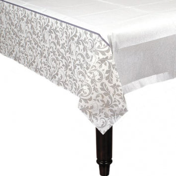 Silver Wedding Paper Table Cover