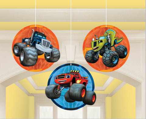 Blaze and the Monster Machines Honeycomb Decorations