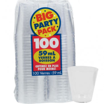 Clear 2oz. Shot Glasses 100ct.