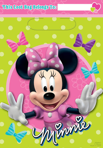 Disney Minnie Mouse Folded Loot Bags 8ct.